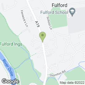 Map of Fulford P.O in Fulford, York, north yorkshire