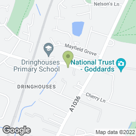 Map of Dringhouses Sports & Social Club in York, north yorkshire