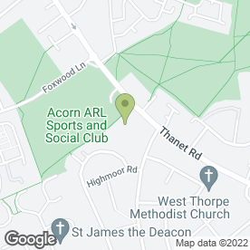 Map of Acorn A.R.L Sports & Social in York, north yorkshire