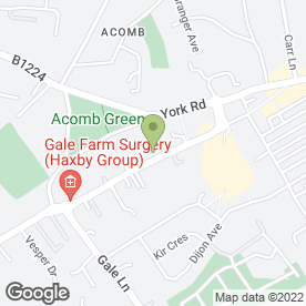 Map of Acomb Travel Agency in Acomb, York, north yorkshire
