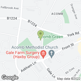 Map of Acomb Sports Club in Acomb, York, north yorkshire