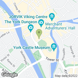 Map of Hilton York Hotel in York, north yorkshire