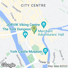 Map of Jorvik Viking Centre in York, north yorkshire
