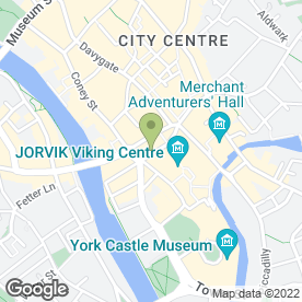 Map of Andrew in York, north yorkshire