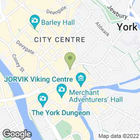 Map of Greggs in York, north yorkshire