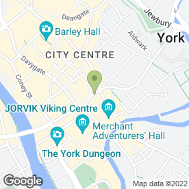 Map of The Golden Fleece in York, north yorkshire