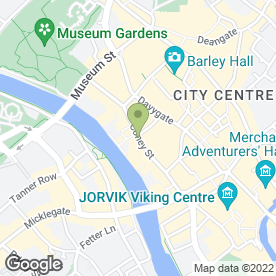 Map of Boots Hearing Care in York, north yorkshire