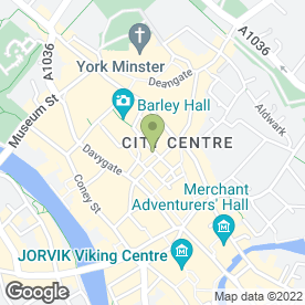 Map of Vudu Lounge in York, north yorkshire