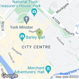Map of Andrea Bambridge Wedding Gowns in York, north yorkshire