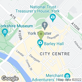 Map of Starbucks Coffee (UK) Co.Ltd in York, north yorkshire