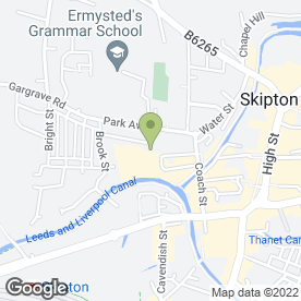 Map of Fisher Medical Centre in Skipton, north yorkshire