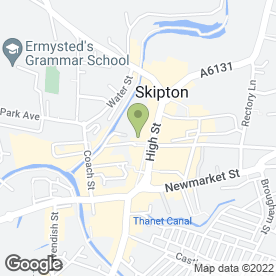 Map of Greggs in Skipton, north yorkshire