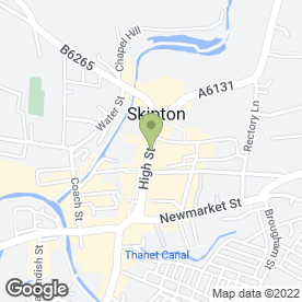 Map of Alzheimers Society-Craven Branch in Skipton, north yorkshire