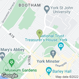 Map of Bluebells Of York in YORK, north yorkshire