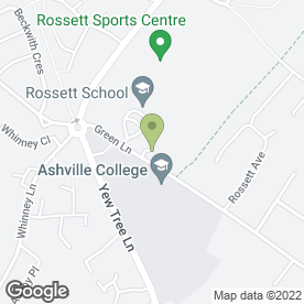 Map of Ashville College in Harrogate, north yorkshire
