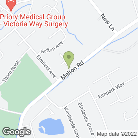 Map of Straylands Private Day Nursery in York, north yorkshire