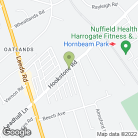Map of Whittfields in Harrogate, north yorkshire