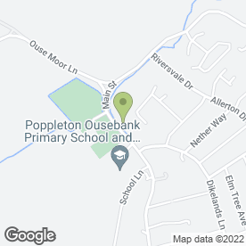 Map of Popsoc Schools Out Club in Upper Poppleton, York, north yorkshire