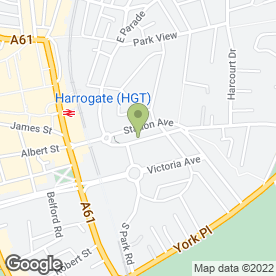 Map of Age UK in Harrogate, north yorkshire