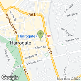 Map of Santander in Harrogate, north yorkshire