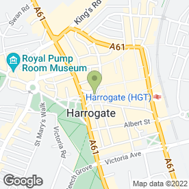 Map of Royal Bank of Scotland in Harrogate, north yorkshire