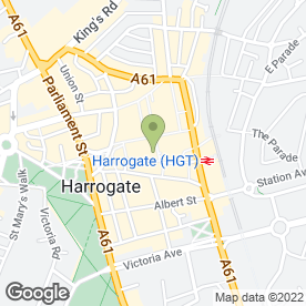 Map of Vodafone Ltd in Harrogate, north yorkshire