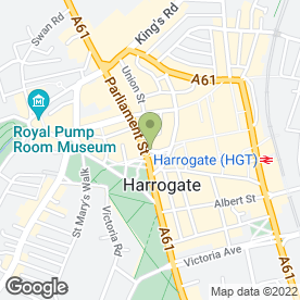 Map of NatWest Bank plc in Harrogate, north yorkshire