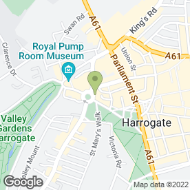 Map of Palm Court Cafe in Harrogate, north yorkshire