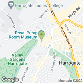 Map of David Love Antiques in Harrogate, north yorkshire