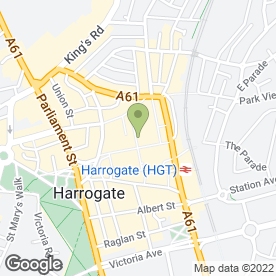 Map of Orange in Harrogate, north yorkshire