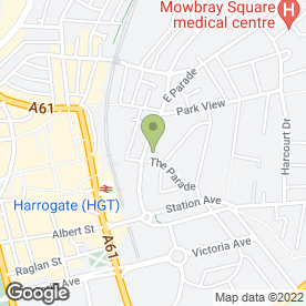 Map of Roberts Harry Clinic in Harrogate, north yorkshire