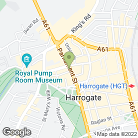 Map of Pizza Hut (UK) Ltd in Harrogate, north yorkshire