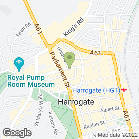 Map of Jakes in Harrogate, north yorkshire
