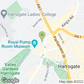 Map of And So To Bed in Harrogate, north yorkshire