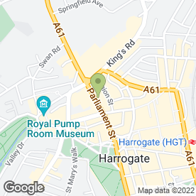 Map of Julie Fitzmaurice in Harrogate, north yorkshire