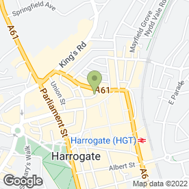 Map of 24 Hour Harrogate & Knaresborough Locksmiths in HARROGATE, north yorkshire