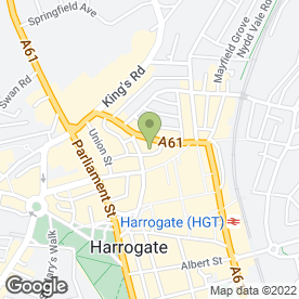 Map of Budget Car Hire in Harrogate, north yorkshire