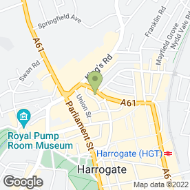 Map of Pookie in Harrogate, north yorkshire
