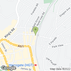 Map of Halfords Autocentre in Harrogate, north yorkshire