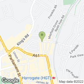 Map of The Zentist in Harrogate, north yorkshire