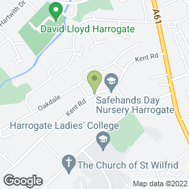 Map of Safehands Day Nursery Ltd in Harrogate, north yorkshire