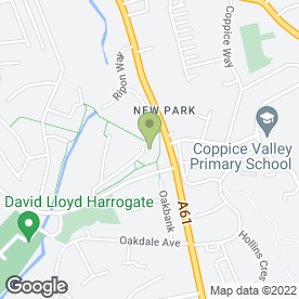 Map of Coppice Valley Nursery in Harrogate, north yorkshire