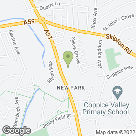 Map of National Tyres and Autocare in New Park, Harrogate, north yorkshire