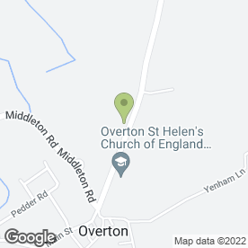 Map of Overton St. Helen's C of E Primary School in Overton, Morecambe, lancashire