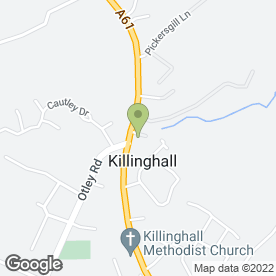 Map of THREE HORSESHOES in Killinghall, Harrogate, north yorkshire