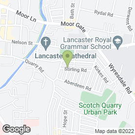 Map of Barkers in Lancaster, lancashire