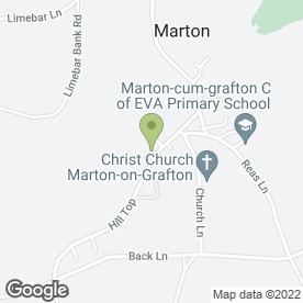 Map of The Punch Bowl Inn in Marton Cum Grafton, York, north yorkshire