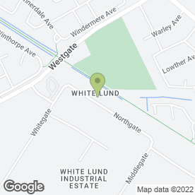 Map of Enterprise Rent-a-Car in White Lund Industrial Estate, Morecambe, lancashire