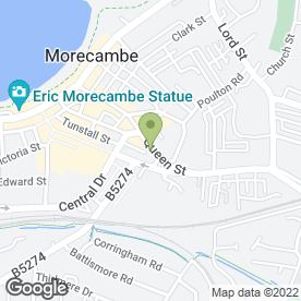 Map of Citizens Advice Bureau in Morecambe, lancashire