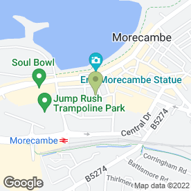 Map of Ratcliffe & Bibby Solicitors in Morecambe, lancashire